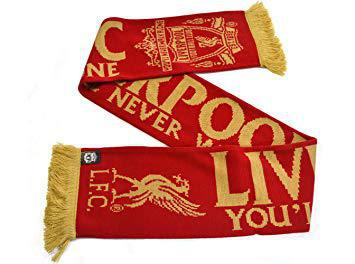"""/""""You/'ll Never Walk Alone/"""" Official Scarf Liverpool F.C"""