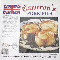 Cameron's Pork Pies box of 4