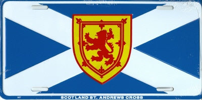 Scotland St. Andrews Cross License Plate With Lion Crest