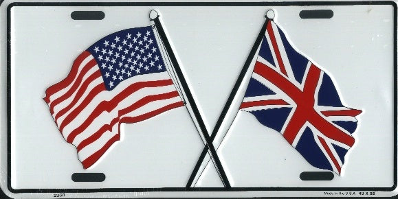 UK/US Flag License Plate