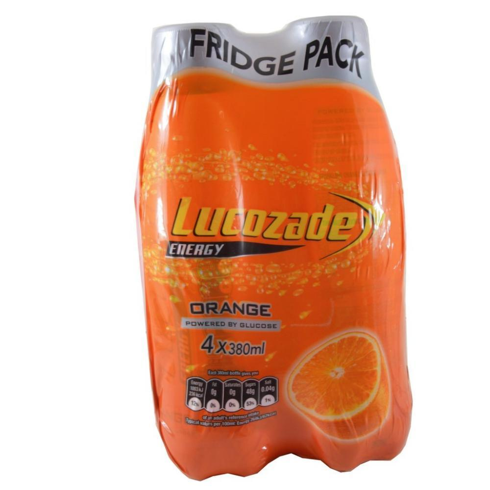 Lucozade Energy Orange 380mL 4-Pack