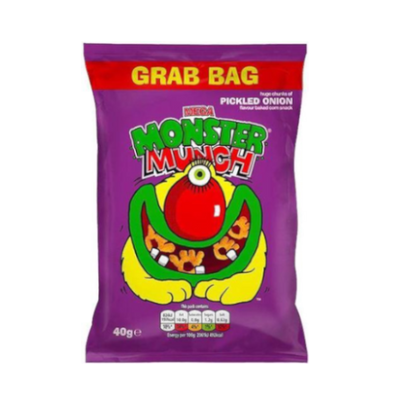 Walkers Crisps Monster Munch Pickled Onion 40g