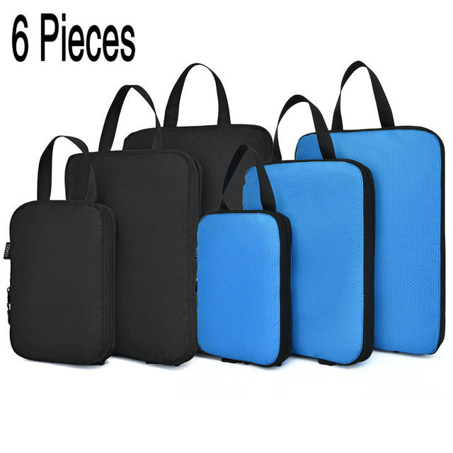 Compression Packing Cubes Set For Travel (6 Pieces)