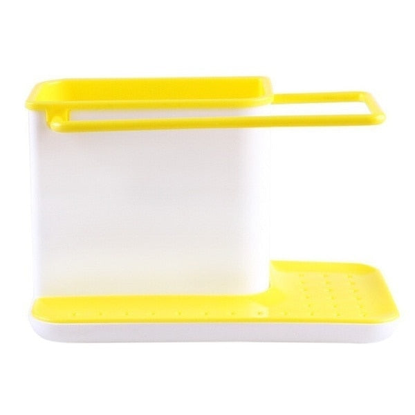 Kitchen Essentials Storage Shelf Sponge Holder with Easy Draining Base