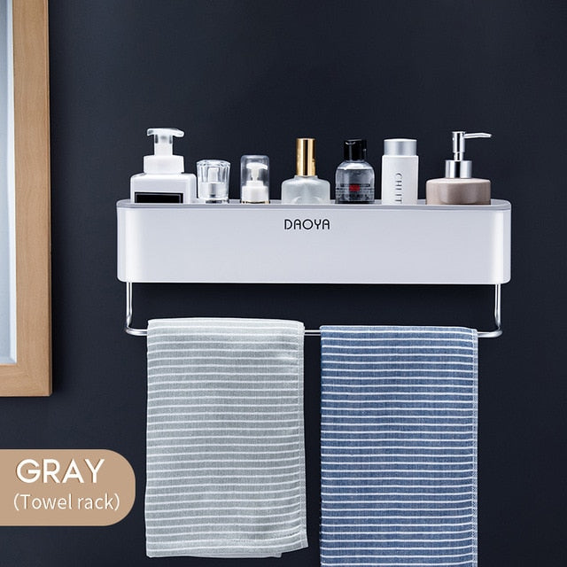 Premium Wall Mounted Bathroom Shelf Shower Caddy Organizer