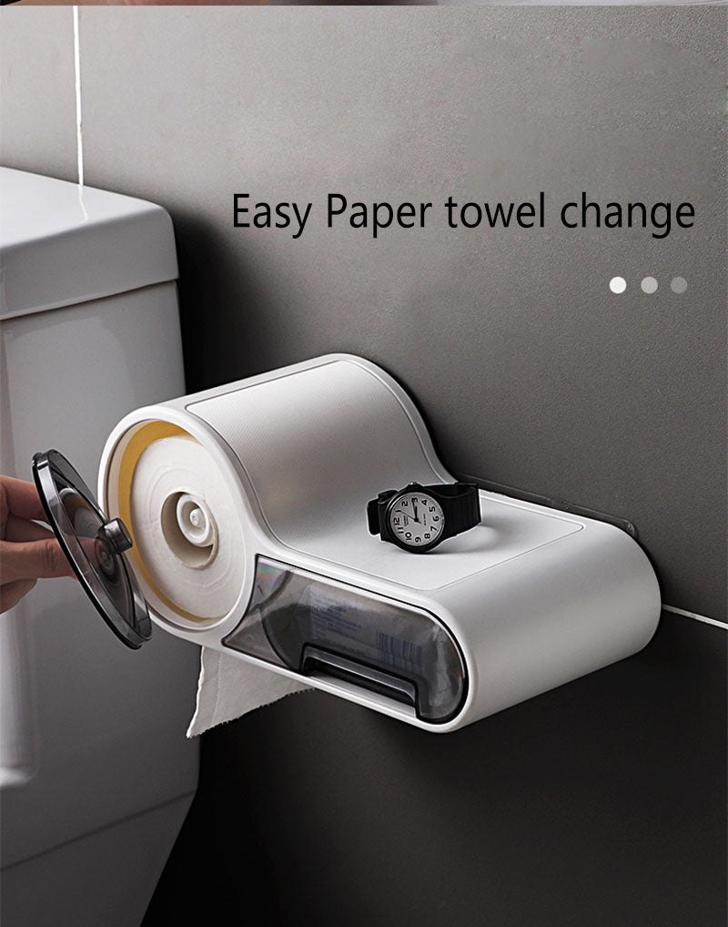 Next Generation Waterproof Toilet Paper Dispenser with Drawer