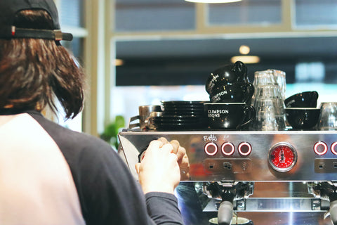 Climpson and Sons Cafe Barista LaMarzocco KB90
