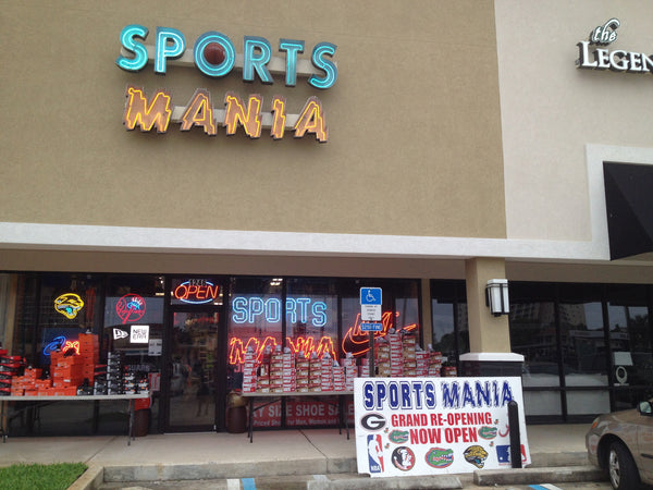 Sports Mania Jacksonville Beach, the top local Team Fan store has a grand opening at their new location; 1246 S 3rd Street, Jacksonville Beach, Fl. 32250