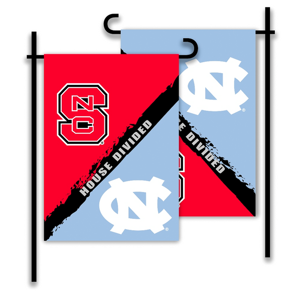 NCAA N. Carolina - Nc State 2-Sided Garden Flag - Rivalry House Divided