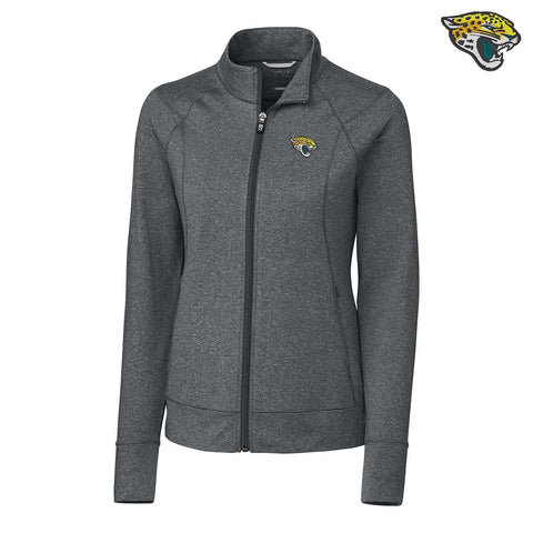 NFL Jacksonville Jaguars Cutter & Buck Charcoal Heather Ladies Zip Up Jacket