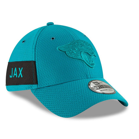NFL Jacksonville Jaguars Men's New Era Teal  2018 NFL Sideline Color Rush Official 39THIRTY Flex Hat