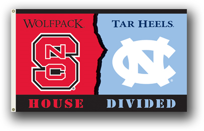 NCAA N. Carolina - Nc State 3 Ft. X 5 Ft. Flag W/Grommets - Rivalry House Divided