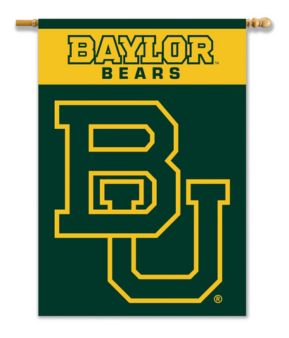 "NCAA Baylor Bears 2-Sided 28"" X 40"" Banner W/ Pole Sleeve"