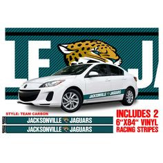 NFL Jacksonville Jaguars Fan Racing Car Stripe Decals