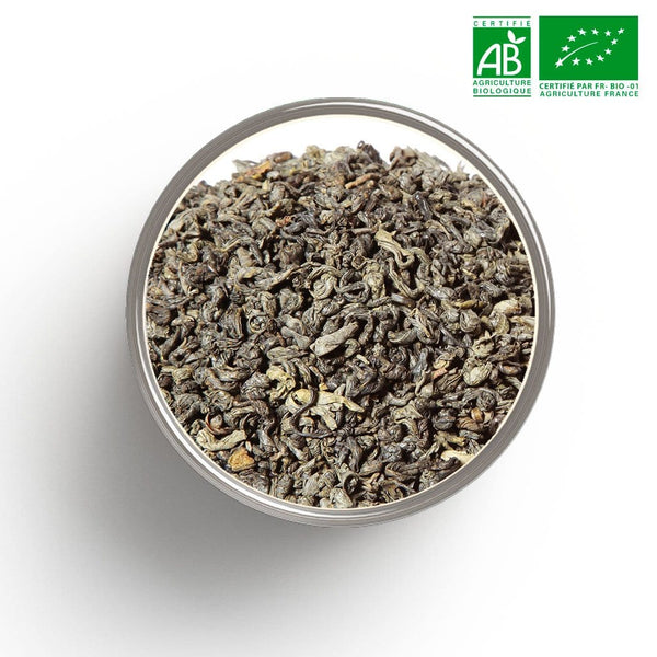 Thé vert nature China Gunpowder Grade 1 BIO en vrac 1 Kg