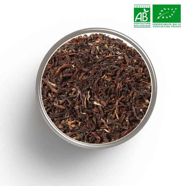Thé noir nature Darjeeling ftgfop 1 first flush blend BIO en vrac 1 Kg