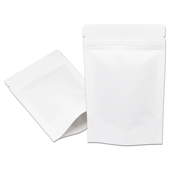 Doypacks Couleur Blanc Kraft M (100 g environ) Dimension 130 x 225 x 70 mm