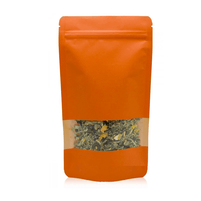 Doypacks orange kraft M (100 g environ) Dimension 130 x 225 x 70mm