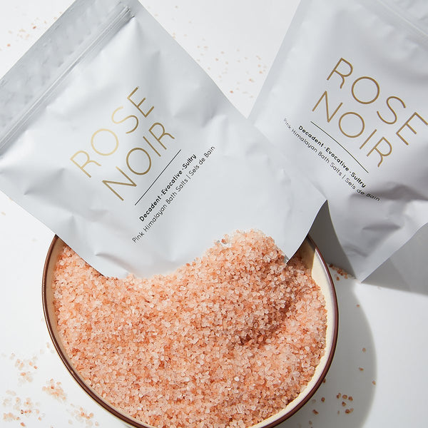 ROSE NOIR | Pink Himalayan Bath Salts - Mullein and Sparrow
