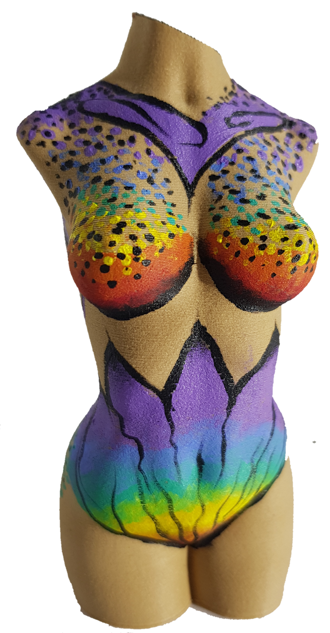 Rainbow Godess (Female Torso 12cm)