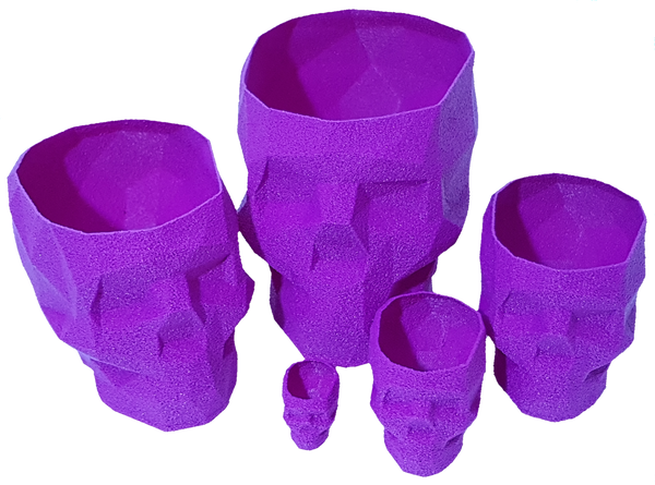 Set of 5 Nesting Skulls. Multi Purpose Desk Organiser, Planter Pot, Lampshade!!