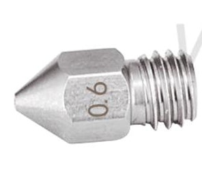 BEST SIZE 0.6mm MK8 Nipple/Nozzle Stainless Steel.  all sizes between 0.2mm to 1.2mm