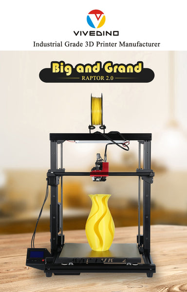 VIVEDINO Raptor 2.0 Industrial Grade Large Scale 3D Printer with 400*400*500mm Print Size $999-$1149 USD