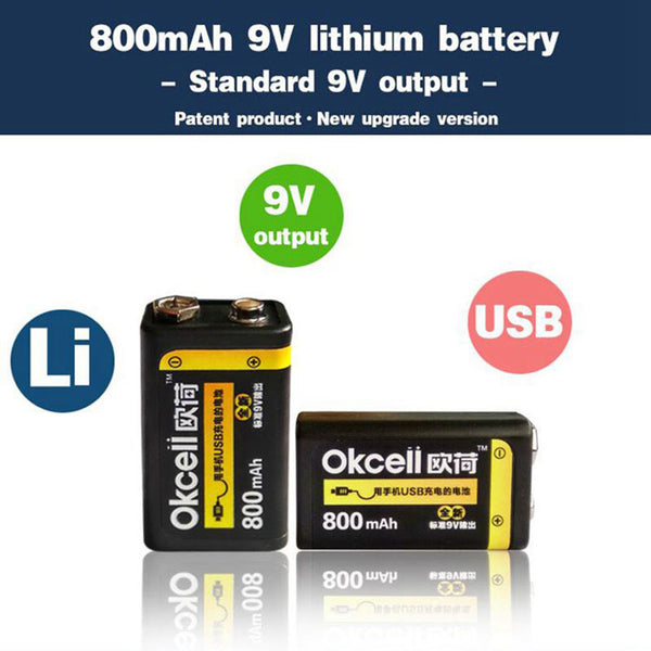 USB Rechargeable 9V Battery Free Shipping 30 to 60 days from china