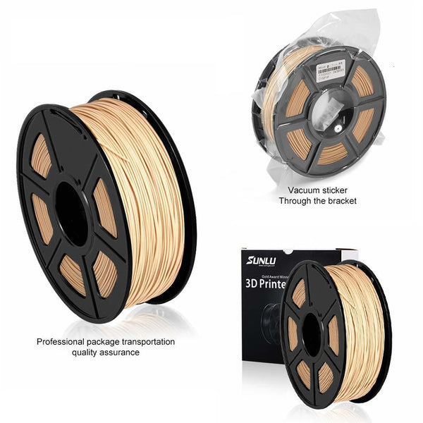3d Printer Wood Filament 1kg With Spool 1.75mm Use Wood Fibre Material Better For Handicraft Birthday Gift DIY Printing