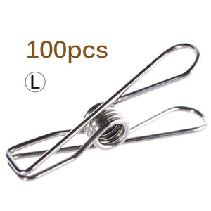 100pcs Multipurpose Stainless Steel Clips