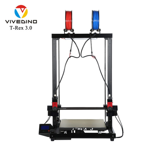 VIVEDINO T-Rex 3.0 IDEX 3D Printer with Extended Z Axis 400x400x700mm $2099-$2249 USD