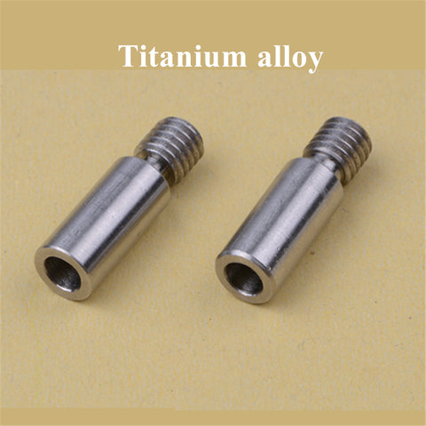 2pcs Super smooth V6 Kraken Titanium alloy Heat Break throat Chimera/Cyclops TC4 thermal barrel 1.75mm 3d printer Free Shipping (2-3 weeks)