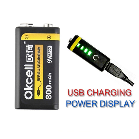 USB Rechargeable 9V Battery