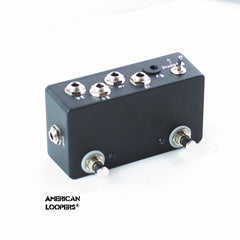 2CH True Bypass Looper Plus Flip Flop (Reverse Order) Mod With PREMIUM Switches - Two (2) Loops,Standard- AMERICAN LOOPERS - MADE IN USA