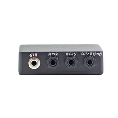 Four Cable Method (With Auto Reroute for Series) Guitar Patchbay Interface for your Pedalboard With Isolated Jacks,Junction Box- AMERICAN LOOPERS - MADE IN USA