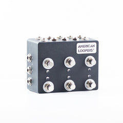 6CH MINI Z True Bypass Looper With PREMIUM Switches - Six (6) Loops,Standard- AMERICAN LOOPERS - MADE IN USA