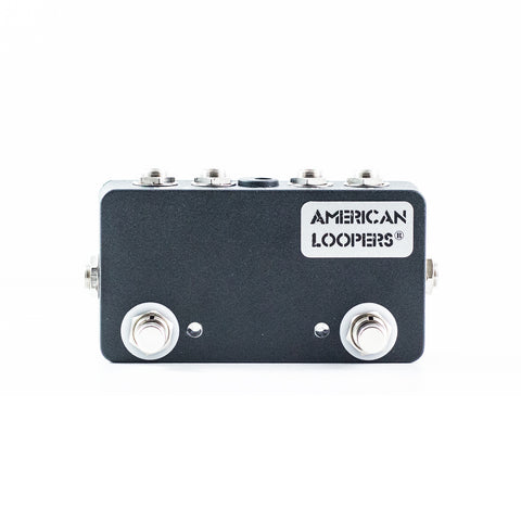 2CH True Bypass Looper With PREMIUM Switches - Two (2) Loops