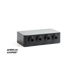 4 Way Junction Box (All TRS Stereo Jacks) Wired With Evidence Audio Monorail Pedalboard Patch Bay and Isolated Jacks,Junction Box- AMERICAN LOOPERS - MADE IN USA
