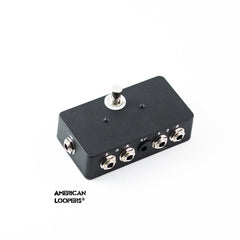 Flip Flop (effect order changer) for any two guitar effect pedals A>B or B>A,Standard- AMERICAN LOOPERS - MADE IN USA