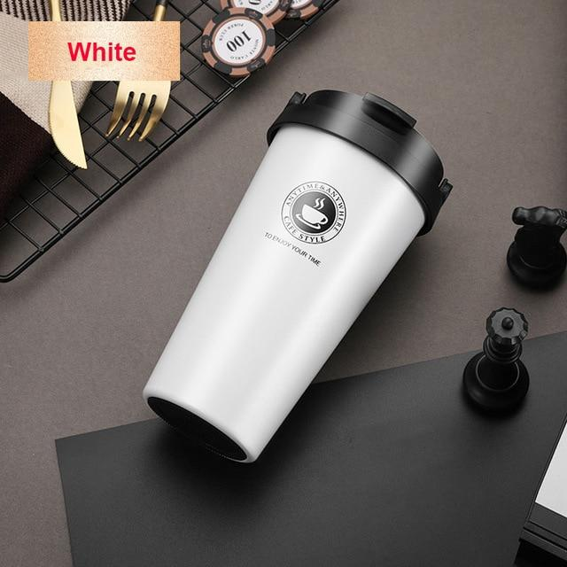 Mug Isotherme <br> Inoxydable Blanc 500ml