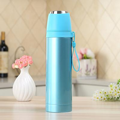 Bouteille Isotherme <br> Inox Bleue Fluo 500ml
