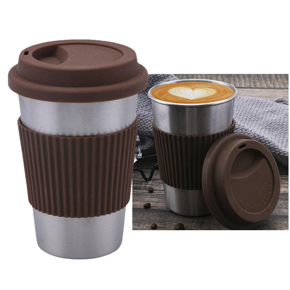 Mug Isotherme <br> Inox Marron 500ml