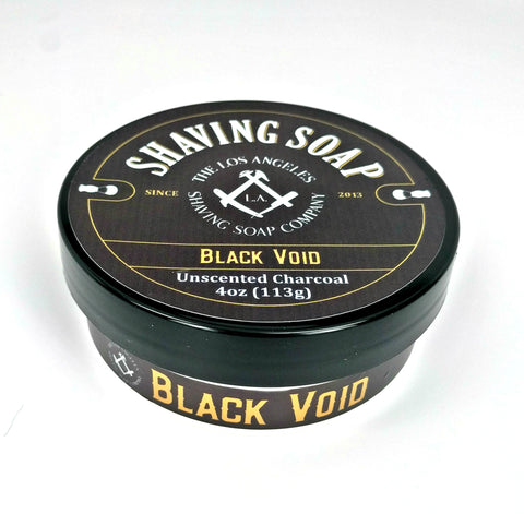 Black Void Unscented Shaving Soap