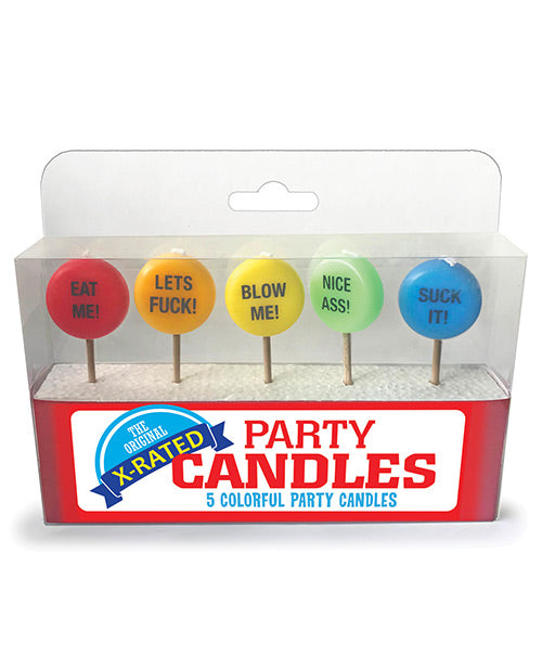 X-rated Party Candles - Set Of 5