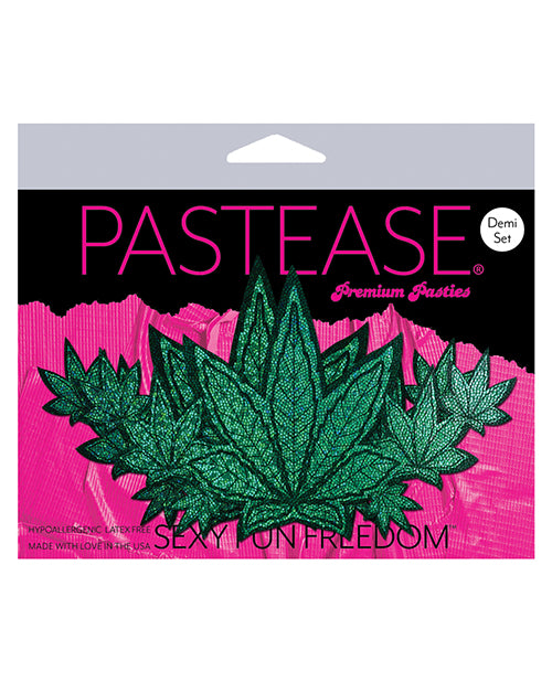 Pastease Demis Glitter Leaf - Green O-s