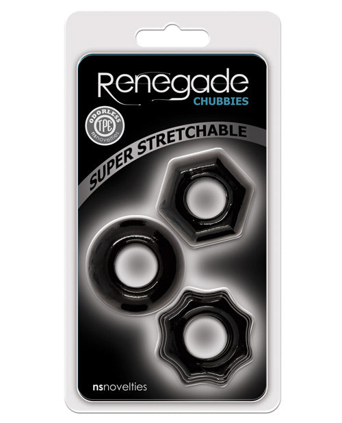 Renegade Chubbies 3 Pack - Black