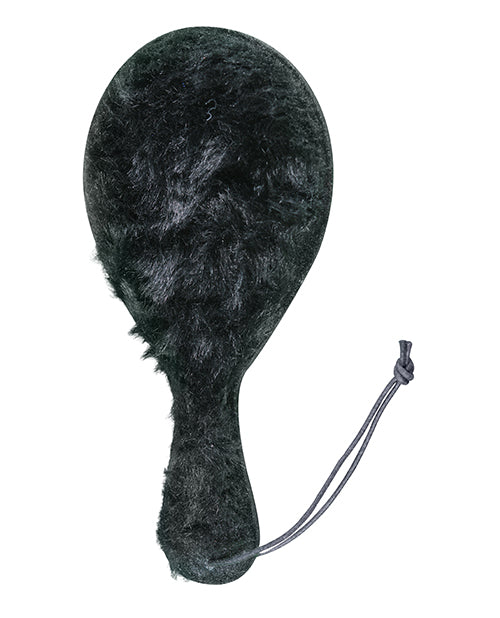 Plesur Faux Fur Leather Ping Pong Paddle - Black