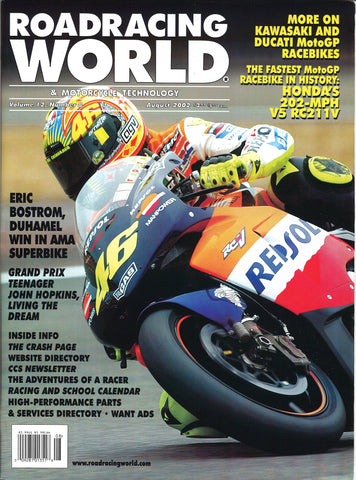 ARCHIVED 2002-08 Roadracing World Back Issue: August 2002