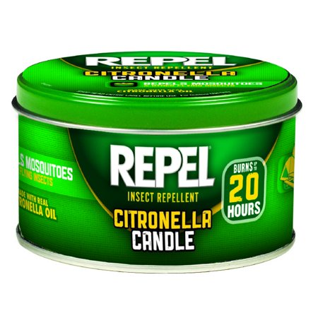 Repel Citronella Insect Repellent Candle 10 Ounce Tin Repels Mosquitoes Camping