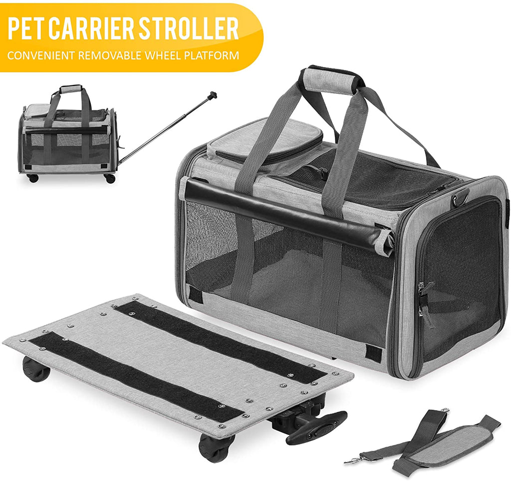 PawRoll™ Travel Pet Carrier with Detachable Wheels